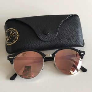 Ray-Ban Clubmaster Clubround 4246 Pink Rose Gold